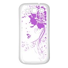 Purple Woman Of Chronic Pain Samsung Galaxy S3 Back Case (white) by FunWithFibro