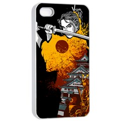 Samurai Rise Apple Iphone 4/4s Seamless Case (white) by Contest1889920