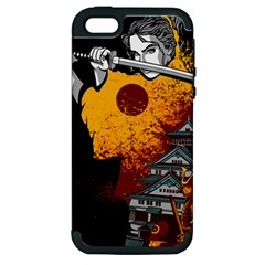 Samurai Rise Apple iPhone 5 Hardshell Case (PC+Silicone) by Contest1889920