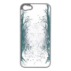 the Woods Beckon  Apple Iphone 5 Case (silver) by Contest1891613