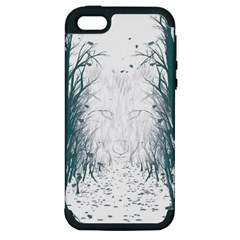the Woods Beckon  Apple Iphone 5 Hardshell Case (pc+silicone) by Contest1891613