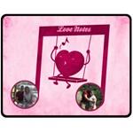 Love Notes medium blanket - Fleece Blanket (Medium)