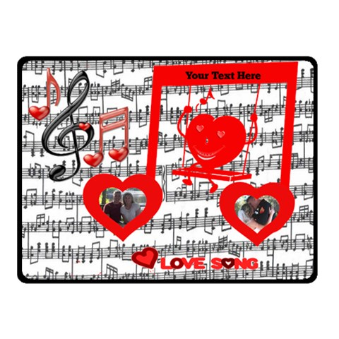 Love Song Small Music Blanket By Joy Johns   Fleece Blanket (small)   Fh4be5qu5tw9   Www Artscow Com 50 x40 Blanket Front