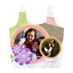 Mothers Day By Mom   Full Print Recycle Bag (l)   Xnt1gd15oevz   Www Artscow Com Back