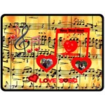 Love Song large blanket #2 - Fleece Blanket (Large)