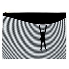 """hang On! Hang On!"" Cosmetic Bag (xxl) by doodlelabel"