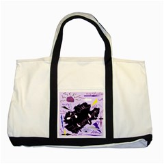 Life With Fibromyalgia Two Toned Tote Bag by FunWithFibro