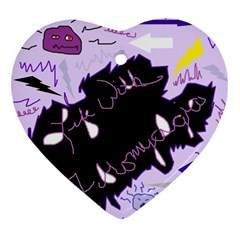 Life With Fibromyalgia Heart Ornament (two Sides) by FunWithFibro