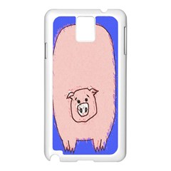 Pig Samsung Galaxy Note 3 N9005 Case (white) by Contest1729022