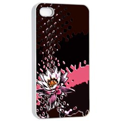Flower Apple Iphone 4/4s Seamless Case (white) by Contest1852090