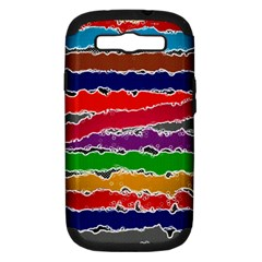 Striped Samsung Galaxy S Iii Hardshell Case (pc+silicone)