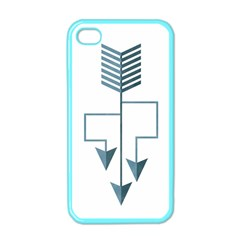 Arrow Paths Apple Iphone 4 Case (color) by Contest1888309