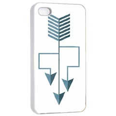 Arrow Paths Apple Iphone 4/4s Seamless Case (white) by Contest1888309