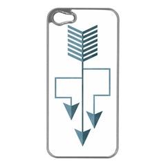 Arrow Paths Apple Iphone 5 Case (silver) by Contest1888309