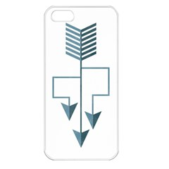 Arrow Paths Apple Iphone 5 Seamless Case (white) by Contest1888309