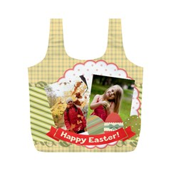Eater By Easter   Full Print Recycle Bag (m)   Jg7uq0mg8uao   Www Artscow Com Front
