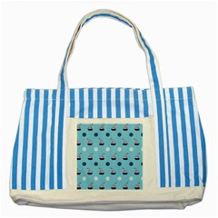 Summer Sailing Blue Striped Tote Bag by StuffOrSomething