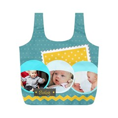 Baby By Baby   Full Print Recycle Bag (m)   Kj4czwa8juo7   Www Artscow Com Back