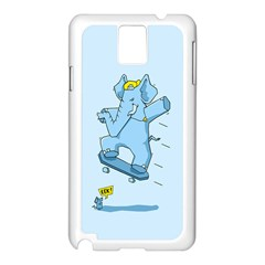 The Ollie-phant Samsung Galaxy Note 3 N9005 Case (White) by Contest1893972
