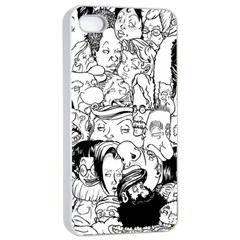 Faces In Places Apple Iphone 4/4s Seamless Case (white) by Contest1894109