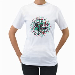 Kaleidoscope on black Women s T-Shirt (White)  by Contest1888822