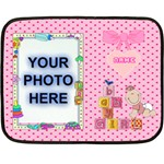 ABC mini blanket #3, 2 sides - Double Sided Fleece Blanket (Mini)