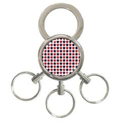 Patriot Stars 3 Ring Key Chain by StuffOrSomething