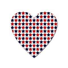 Patriot Stars Magnet (heart) by StuffOrSomething