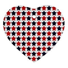 Patriot Stars Heart Ornament (two Sides) by StuffOrSomething