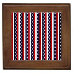 Patriot Stripes Framed Ceramic Tile by StuffOrSomething