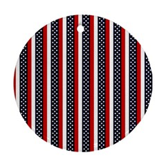 Patriot Stripes Round Ornament by StuffOrSomething