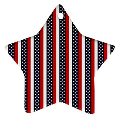 Patriot Stripes Star Ornament by StuffOrSomething