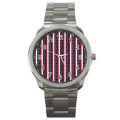 Patriot Stripes Sport Metal Watch by StuffOrSomething