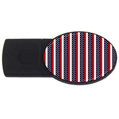 Patriot Stripes 4gb Usb Flash Drive (oval) by StuffOrSomething
