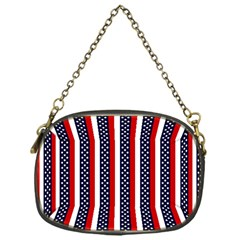 Patriot Stripes Chain Purse (one Side) by StuffOrSomething
