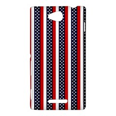 Patriot Stripes Sony Xperia C (S39H) Hardshell Case by StuffOrSomething