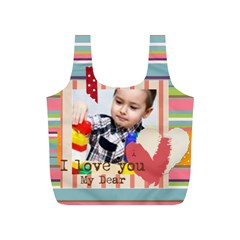 Fun Kids By Kids   Full Print Recycle Bag (s)   2mqkfxd5al7e   Www Artscow Com Back