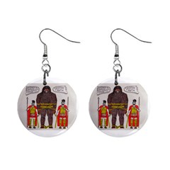 Big Foot & Romans Mini Button Earrings by creationtruth