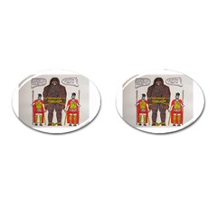 Big Foot & Romans Cufflinks (oval) by creationtruth