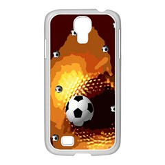 Soccer Samsung Galaxy S4 I9500/ I9505 Case (white) by Rbrendes
