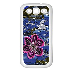 Flooded Flower Samsung Galaxy S3 Back Case (white)