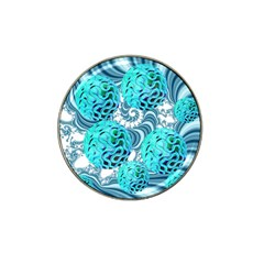 Teal Sea Forest, Abstract Underwater Ocean Golf Ball Marker 10 Pack (for Hat Clip)