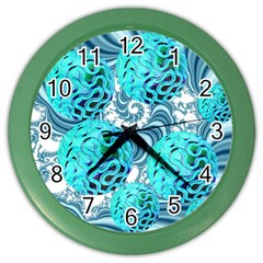 Teal Sea Forest, Abstract Underwater Ocean Wall Clock (Color)