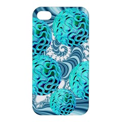 Teal Sea Forest, Abstract Underwater Ocean Apple Iphone 4/4s Premium Hardshell Case by DianeClancy