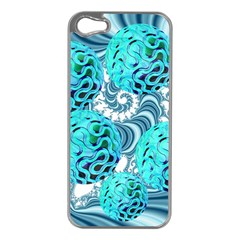 Teal Sea Forest, Abstract Underwater Ocean Apple Iphone 5 Case (silver) by DianeClancy