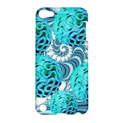 Teal Sea Forest, Abstract Underwater Ocean Apple Ipod Touch 5 Hardshell Case by DianeClancy