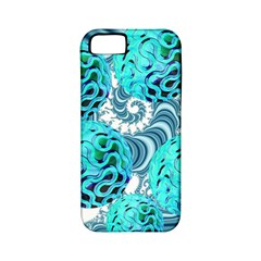 Teal Sea Forest, Abstract Underwater Ocean Apple Iphone 5 Classic Hardshell Case (pc+silicone) by DianeClancy