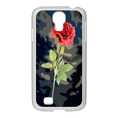 Long Stem Rose Samsung Galaxy S4 I9500/ I9505 Case (white) by Rbrendes