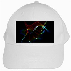 Imagine, Through The Abstract Rainbow Veil White Baseball Cap by DianeClancy