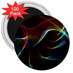 Imagine, Through The Abstract Rainbow Veil 3  Button Magnet (100 Pack)